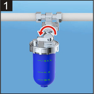 Polyphosphate Feeder Scale Inhibition Whole House Inline System to Correct Harms Caused By Inorganic Groundwater Impurities Helps Avoid Scale Accrual on Water Heaters and Boilers Vertical Connection