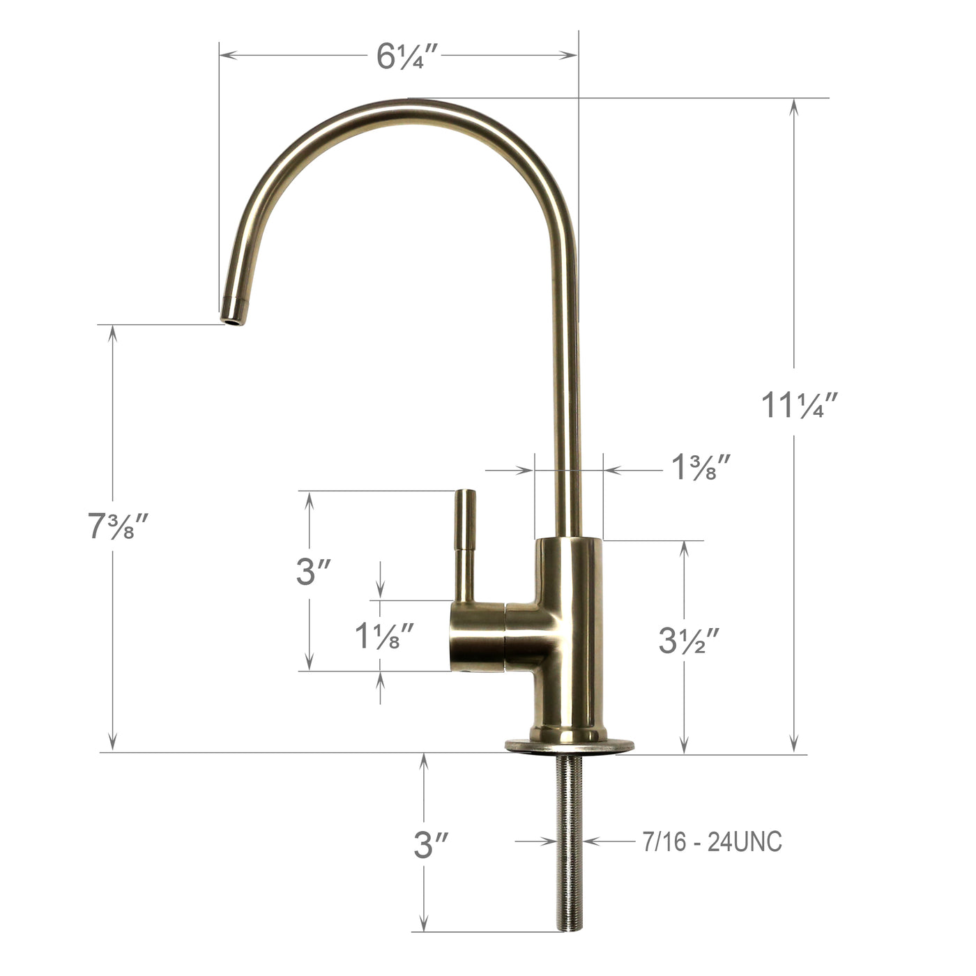 hydronix drinking faucets bn system nickel faucet osmosis brushed water elegant lf reverse and free parts lead
