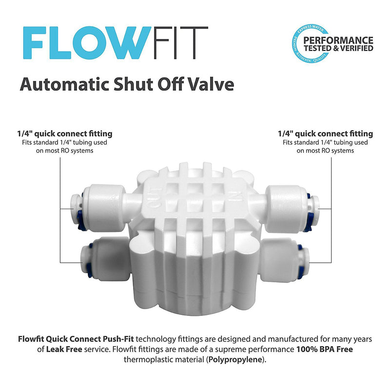 Auto Shut Off Valves for a Standard Reverse Osmosis System