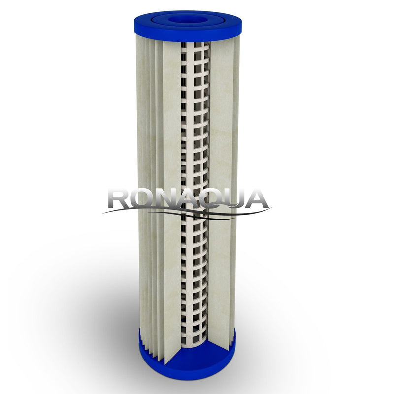 Dual Whole House Water System 10 Inch 5 Micron Pleated Sediment Filter Cartridge Structure