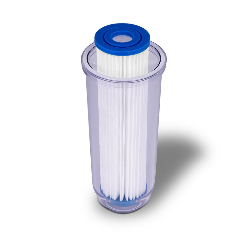 Dual Whole House Water System Second Stage 10 Inch 5 Micron Pleated Sediment Filter with Housing