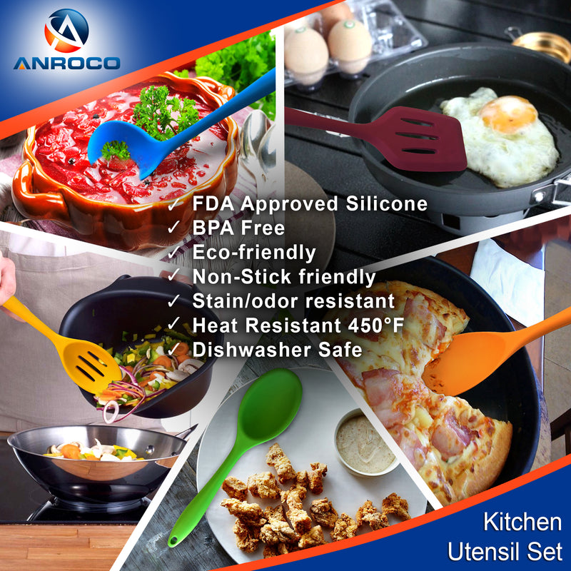 Silicon Cooking Utensil Set