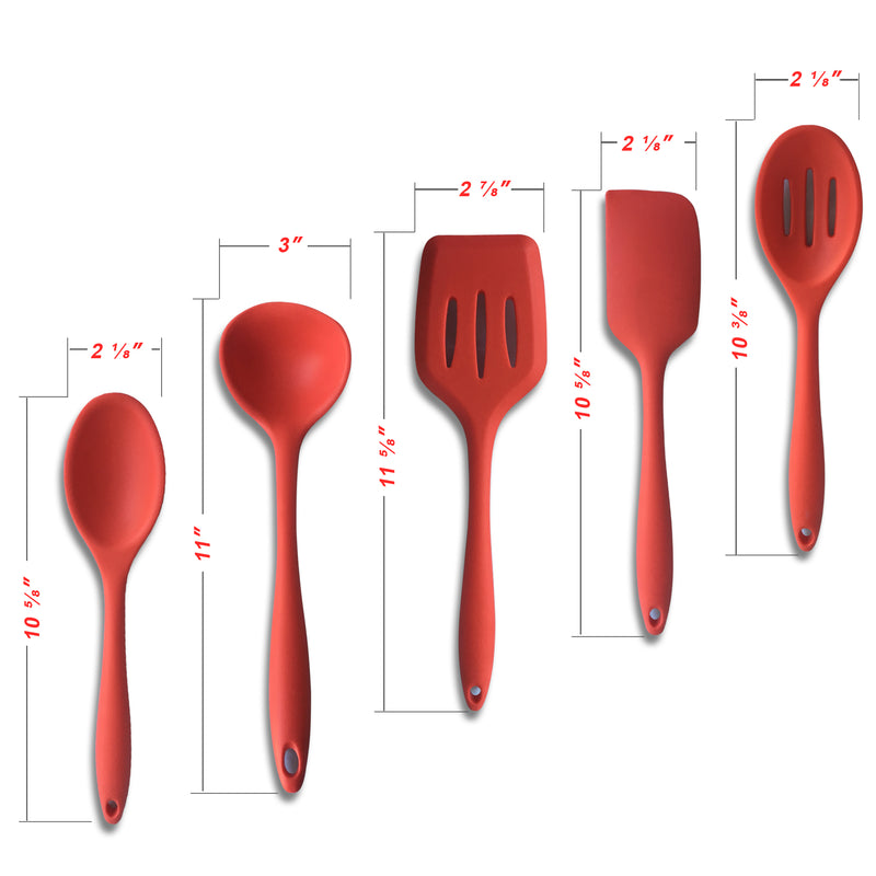 Red Cooking Utensil Set