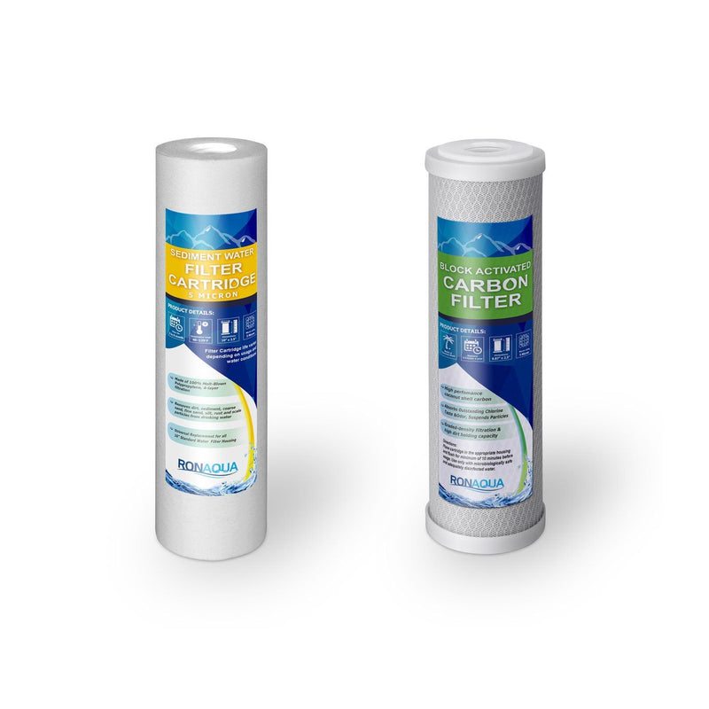 Under the Sink Direct Connect Two-Stage Water System Replacement Filters