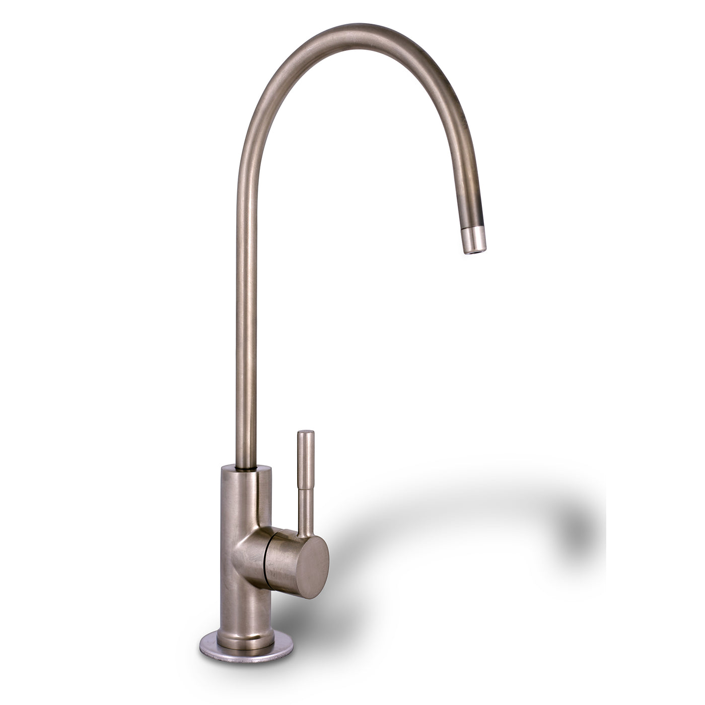 Brushed Nickel European High Spout Drinking Water Faucet | RONAQUA