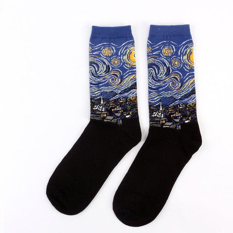 Image of The Starry Night by Vincent van Gogh Socks