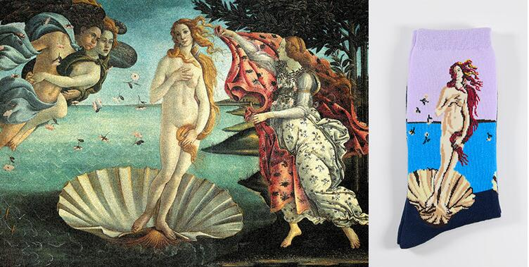 The Birth of Venus by Sandro Botticelli Socks