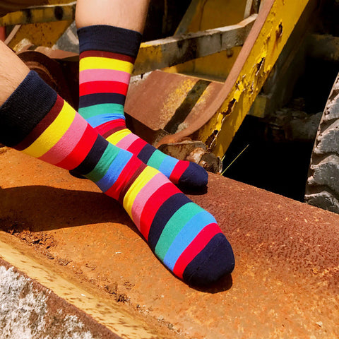 Image of Yellow-Orange Rainbow Socks