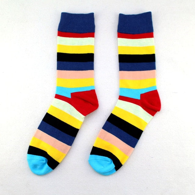 Pink-Mint Rainbow Socks