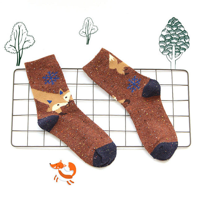 Light Brown Fox Socks