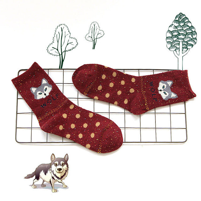 Red Wolf Socks