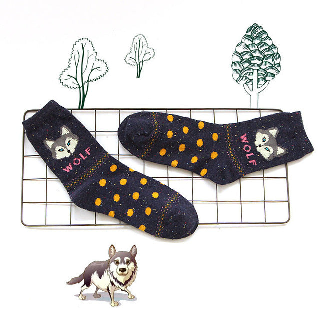 Black Wolf Socks