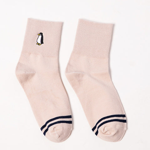 Light Pink Penguin Socks
