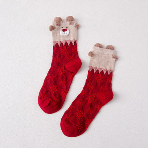Image of Christmas Elk Socks