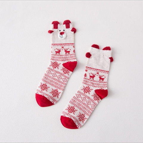 Christmas Elk Socks