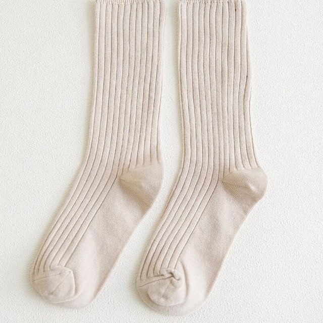 Retro White Socks