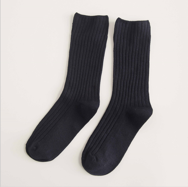 Retro Black Socks