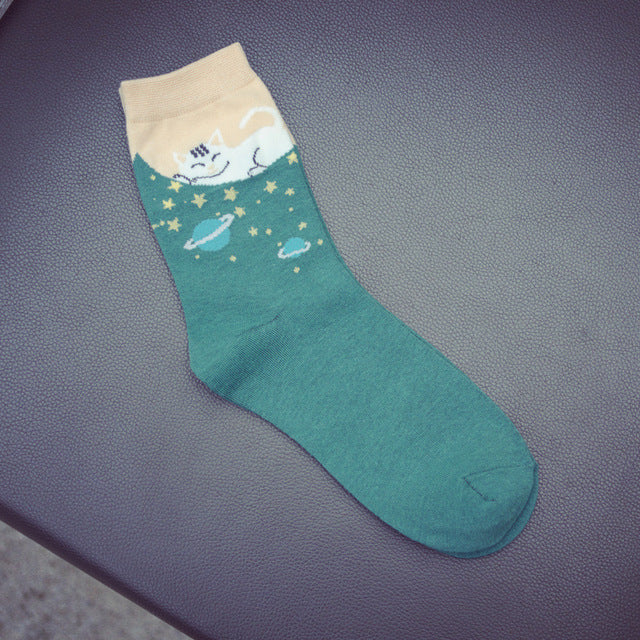 Sleeping Cat Socks
