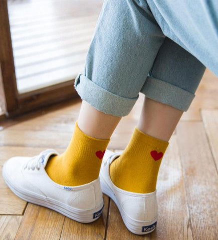 Image of Heart Heel Socks