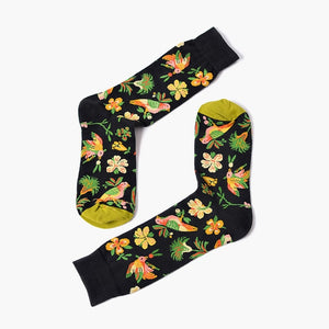 Black Flower Socks