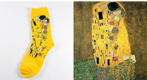 The Kiss by Gustav Klimt Socks