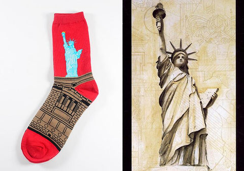 Image of Statue of Liberty Socks