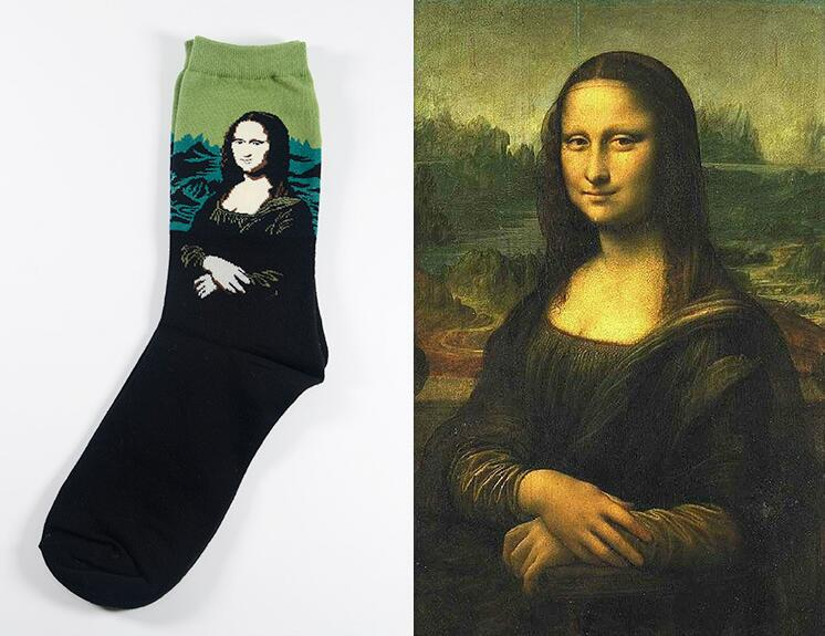 Mona Lisa by Leonardo da Vinci Socks