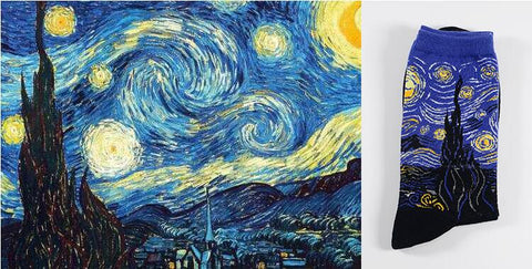 The Starry Night by Vincent van Gogh Socks