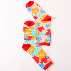 Hawaiian Flowers Socks