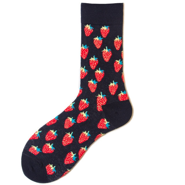 Black Strawberry Socks