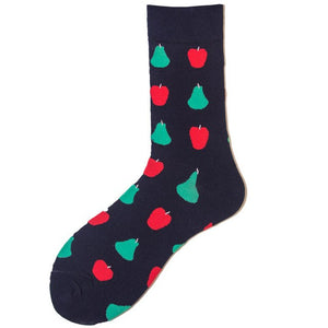 Black Apple & Pear Socks