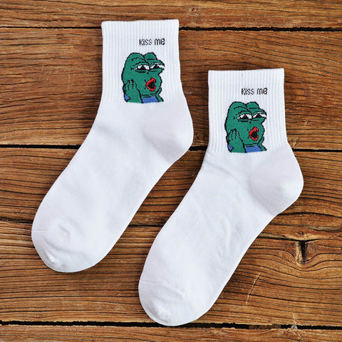 Image of Kiss Me Frog Socks