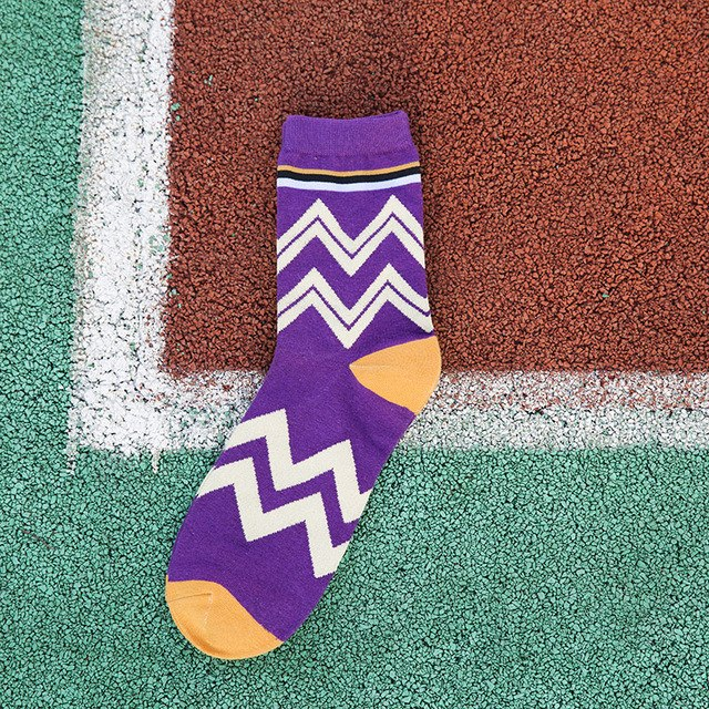 Purple Zigzag Socks