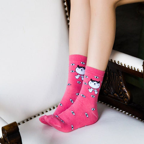 Image of Pink Cat Socks