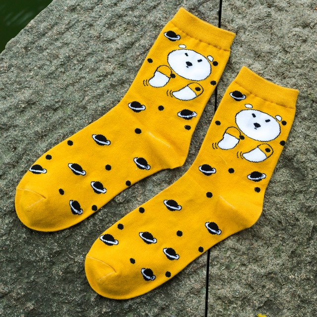 Yellow Bear Socks