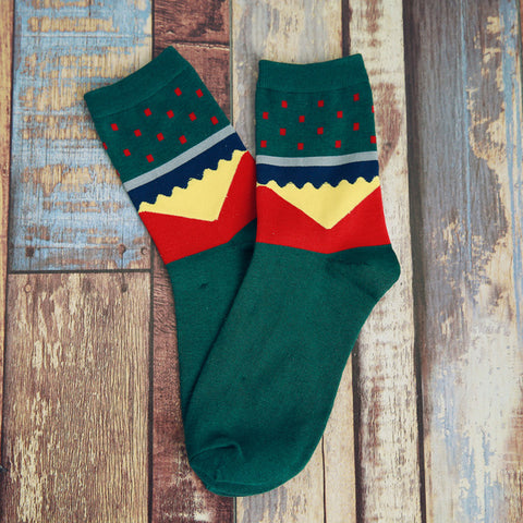 Image of Green Red Socks