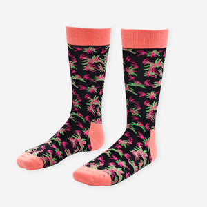 Pink and Black Socks