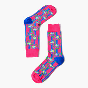 Pink and Blue Eyes Socks