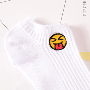 Tongue Out Emoji Socks