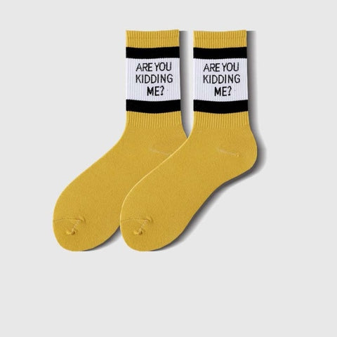 Image of Are You Kidding Me Socks