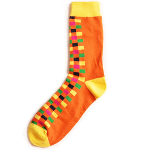 Orange Tiles Socks