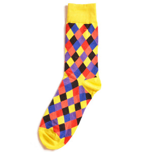 Multicolor Rhombus Socks
