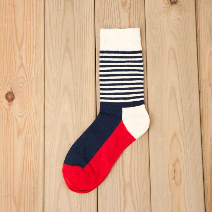Blue & White Striped Socks