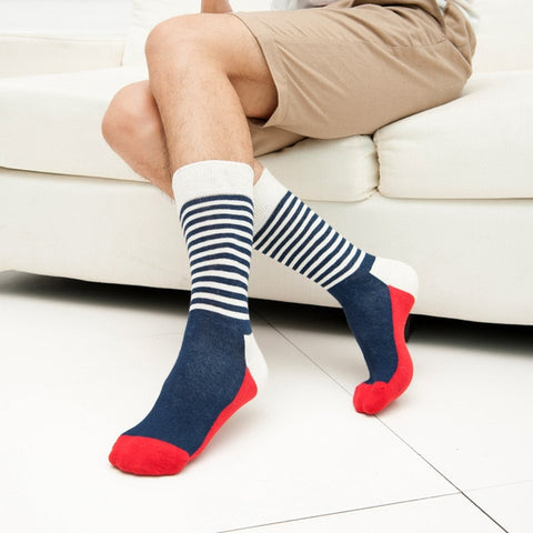 Image of Blue & White Striped Socks