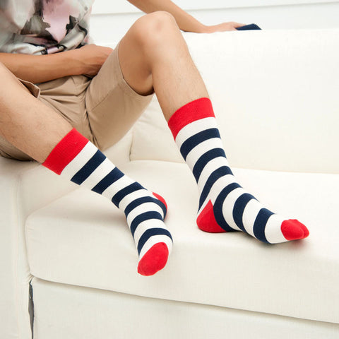 Image of Black & White Striped Socks