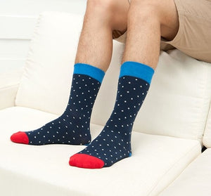 Navy Blue Polka Socks