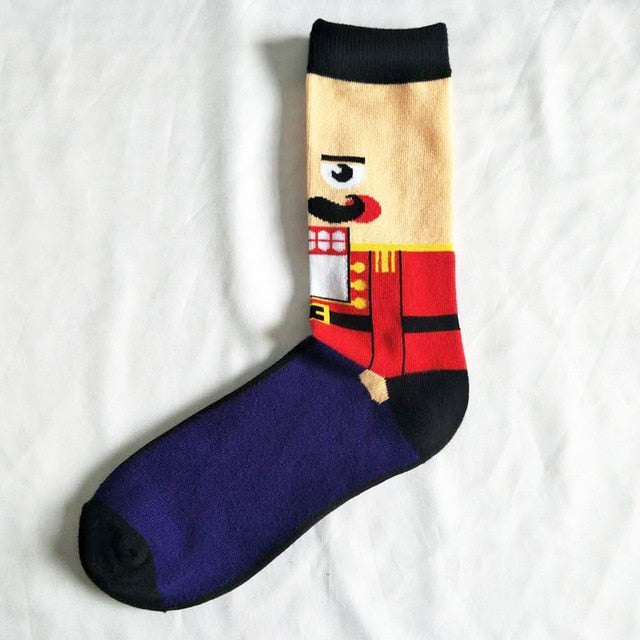 Red Nutcracker Socks