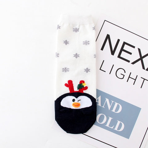 Christmas Penguin Socks