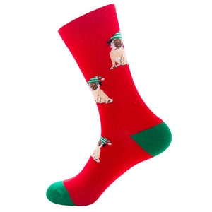 Christmas Pug Socks