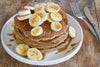 Banana Bread Pancakes with Toffee Drizzle
